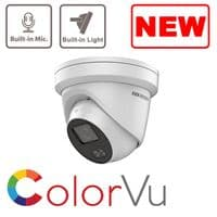 4MP IP DS-2CD2347G1-LU ColorVu Hikvision Fixed Turret Network Camera MIC Build-in